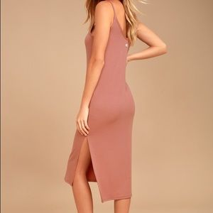 Billabong Blush Pink Midi Dress